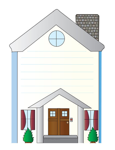 Picture of Large Notepad - House