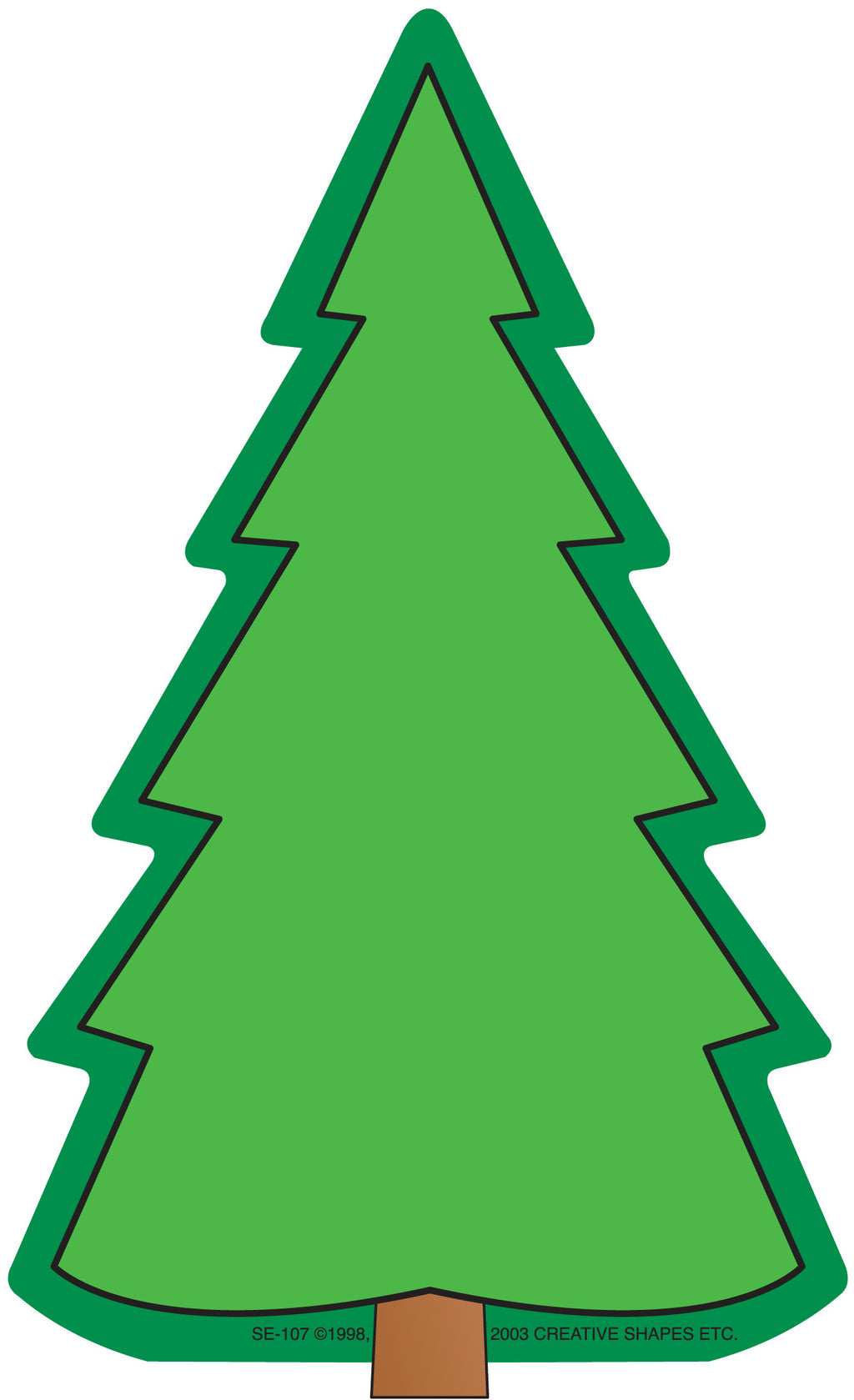 Large Notepad - Fir Tree - Creative Shapes Etc.