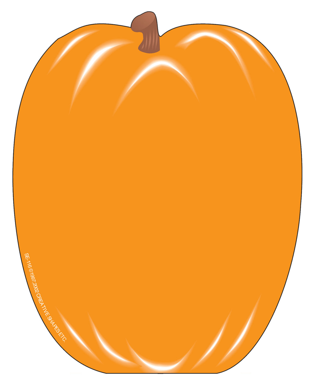 Large Notepad - Pumpkin - Creative Shapes Etc.