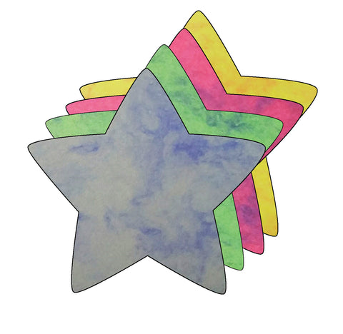 Picture of Small Marble Assorted Cut-Out - Star