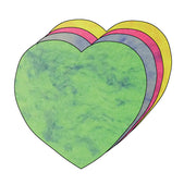 "3"" Heart Marble Assorted Color Creative Cut-Outs, 31 cut-outs in a pack for Kids' Love and Peace School Craft Projects, Valentine's Day Craft."