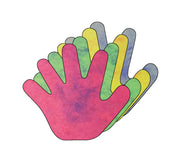 "3"" Hand Marble Assorted Colors Creative Cut-Outs, 31 Cut-Outs in a Pack for Kids' Craft, Unity, Handprint Wreath, School Craft Projects"
