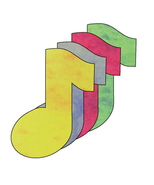 "Music Note Marble Assorted Color Creative Cut-Outs- 3"" - Creative Shapes Etc."