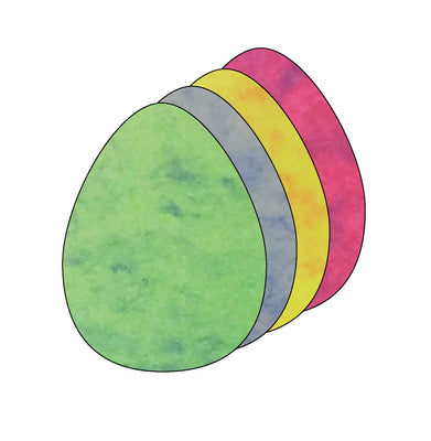 "3"" Egg Marble Assorted Color Creative Cut-Outs, 31 Cut-Outs in a Pack for Spring, Easter, Holiday Decorations, Learning Games, Classroom Kids' School Craft Projects"