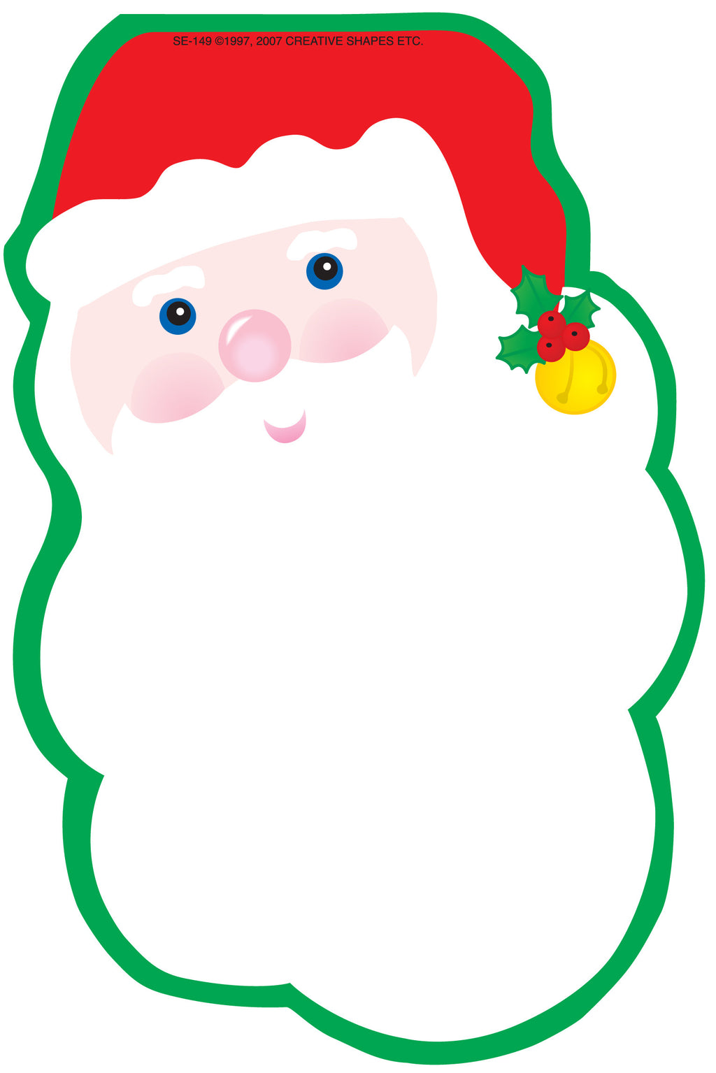Large Notepad - Santa Face