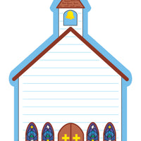 Large Notepad - Church