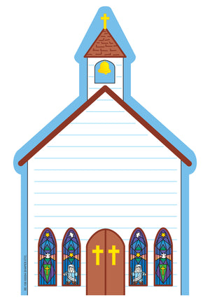 Large Notepad - Church - Creative Shapes Etc.