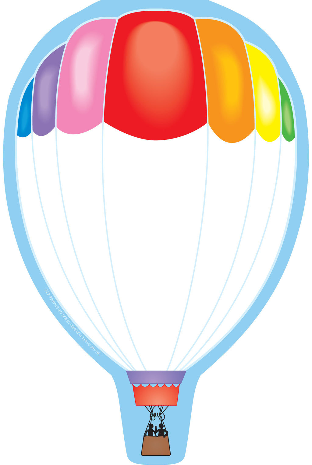 Large Notepad - Hot Air Balloon - Creative Shapes Etc.