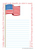 Large Notepad - Pledge/Flag - Creative Shapes Etc.