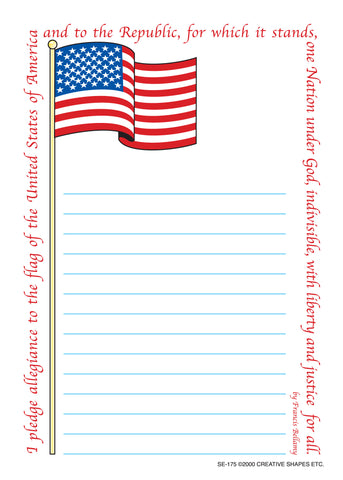 Picture of Large Notepad - Pledge/Flag