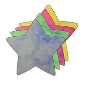 Large Marble Assorted Cut-Out - Star