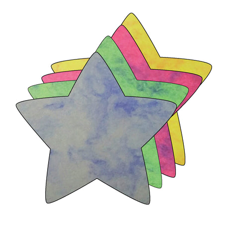 Picture of Large Marble Assorted Cut-Out - Star