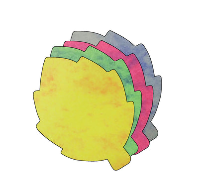 Leaf Marble Assorted Color Creative Cut-Outs- 3