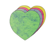 "5.5"" Heart Marble Assorted Color Creative Cut-Outs, 31 cut-outs in a pack for Kids' Love and Peace School Craft Projects, Valentine's Day Craft."