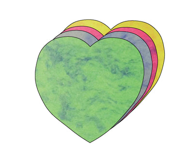 Heart Marble Assorted Color Creative Cut-Outs, 5.5