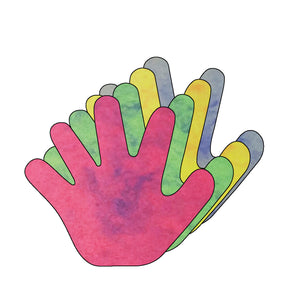 "Hand Marble Assorted Colors Creative Cut-Outs, 5.5"" - Creative Shapes Etc."