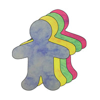 "Person Large Marble Assorted Color Cut-Outs- 5.5"" - Creative Shapes Etc."