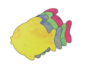 "Fish Marble Assorted Color Creative Cut-Outs- 5.5"" - Creative Shapes Etc."