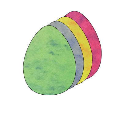Egg Marble Assorted Color Creative Cut-Outs- 5.5