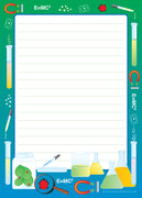 Large Notepad - Science Lab / Lined - Creative Shapes Etc.