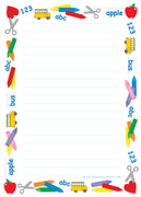 Large Notepad - School Time/Lined - Creative Shapes Etc.