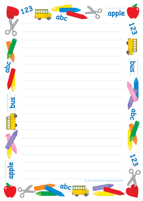 Large Notepad - School Time/Lined