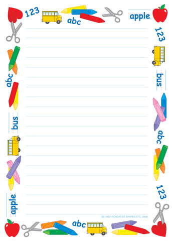 Picture of Large Notepad - School Time/Lined