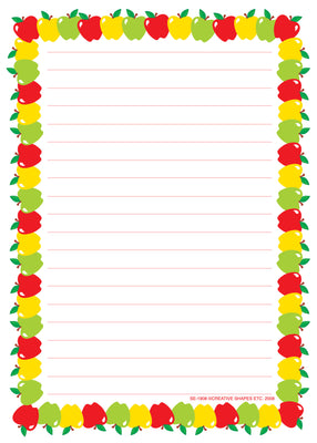 Large Notepad Apple/Lined - Creative Shapes Etc.