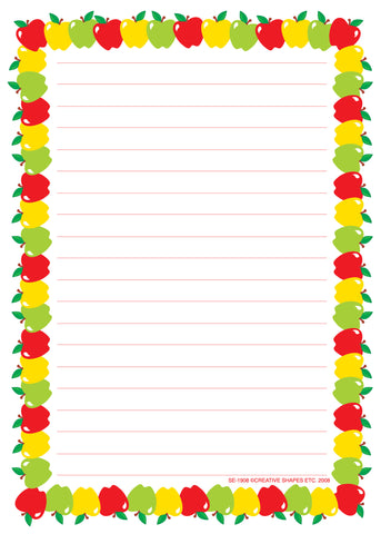Picture of Large Notepad - Apple/Lined