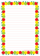 Large Notepad - Apple/Lined