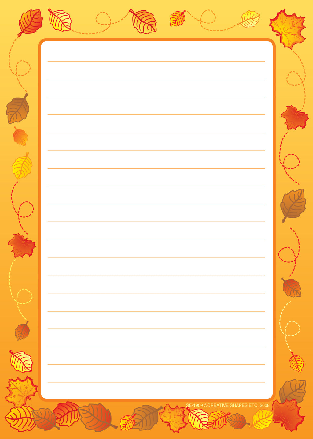 Large Notepad - Leaves / Lined