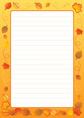 Picture of Large Notepad - Leaves / Lined