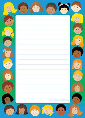 Large Notepad - Kids/Lined - Creative Shapes Etc.