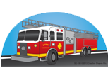Large Notepad - Fire Truck