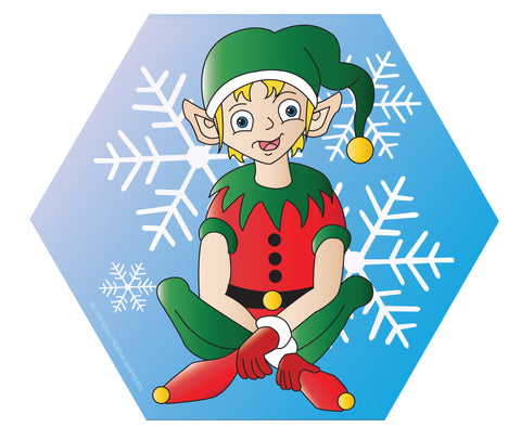 Picture of Large Notepad - Elf Sitting