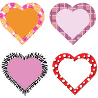 Large Accents - Hearts Variety Pack - Creative Shapes Etc.