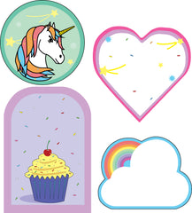 Large Accents - Cupcakes and Rainbows Variety Pack