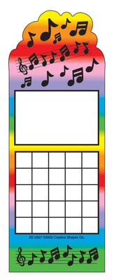 Personal Incentive Chart - Music - Creative Shapes Etc.