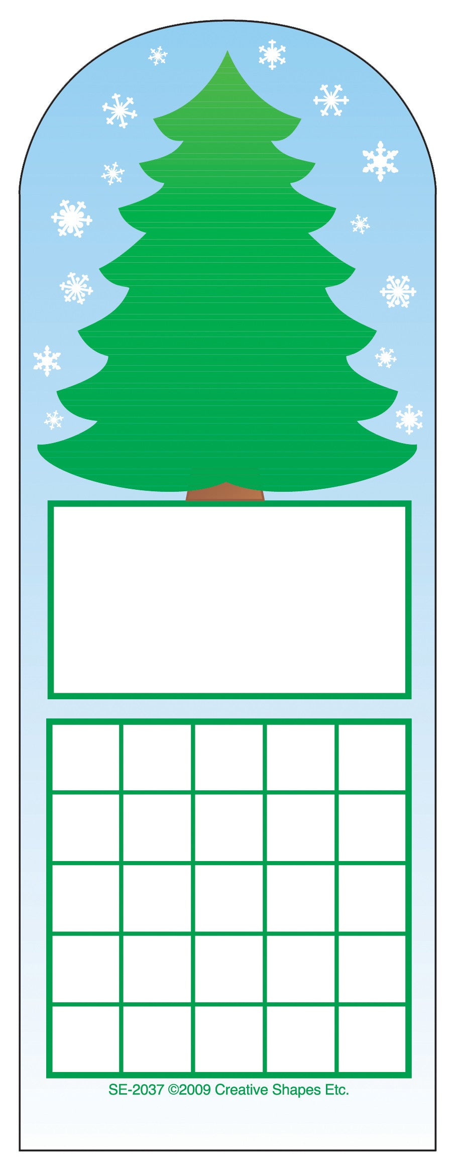 Personal Incentive Chart - Fir Tree - Creative Shapes Etc.