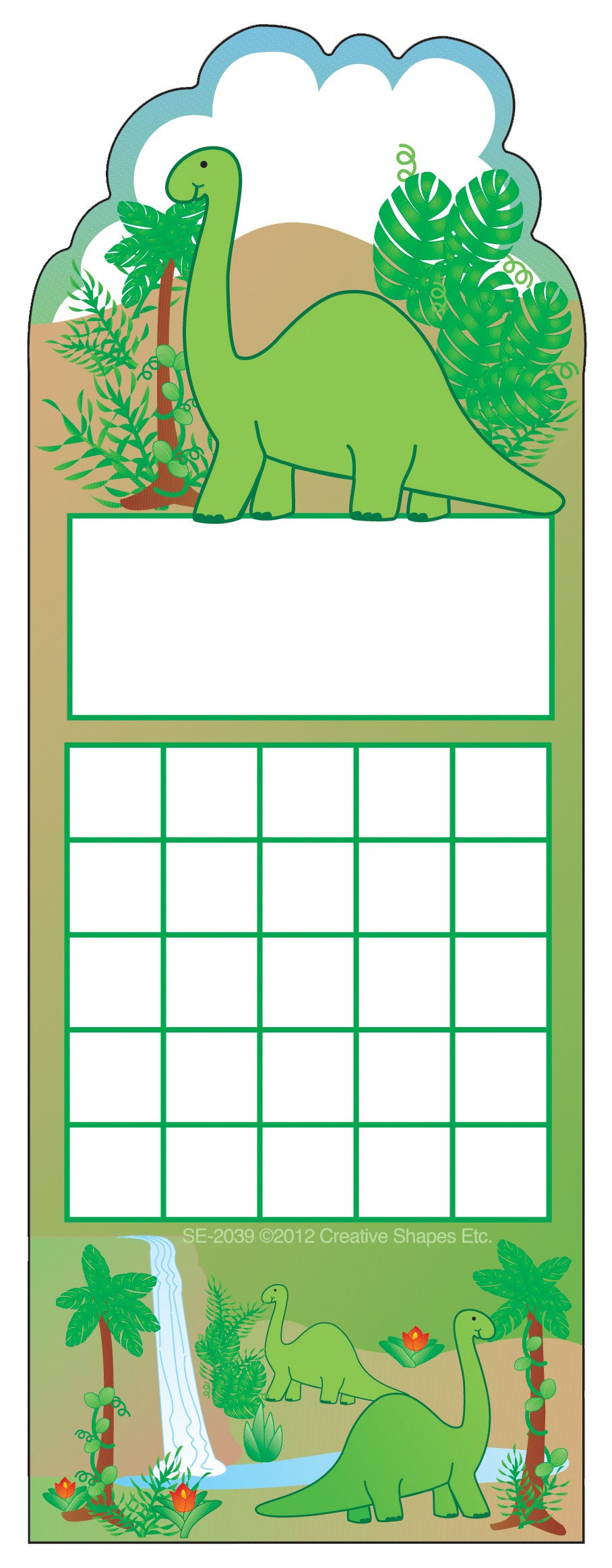 Personal Incentive Chart - Dinosaur - Creative Shapes Etc.