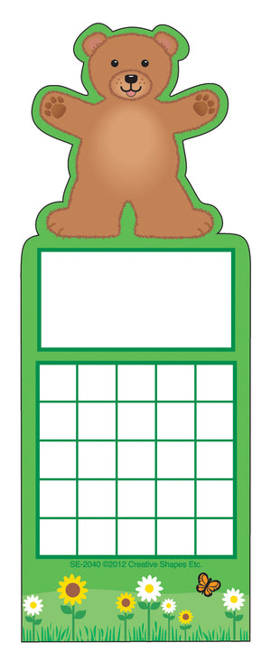 Personal Incentive Chart - Teddy Bear - Creative Shapes Etc.
