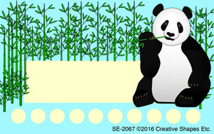 Incentive Punch Cards - Panda - Creative Shapes Etc.