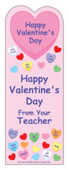 """From Your Teacher"" Bookmarks - Valentine"
