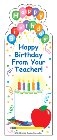 "Picture of ""From Your Teacher"" Bookmarks - Birthday"