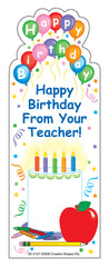 """From Your Teacher"" Bookmarks - Birthday"