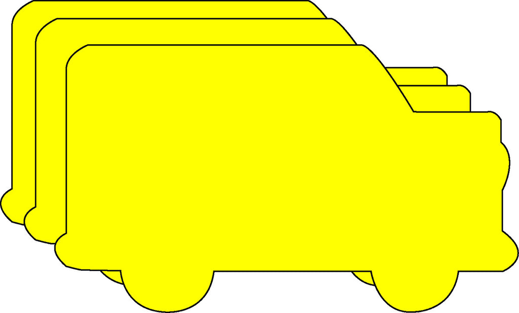 Small Single Color Creative Foam Cut-Outs - School Bus