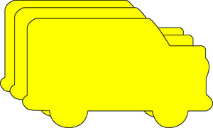 Small Single Color Creative Foam Cut-Outs - School Bus - Creative Shapes Etc.