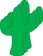 Small Single Color Cut-Out - Cactus - Creative Shapes Etc.