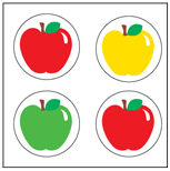 Incentive Stickers - Apple (Pack of 1728) - Creative Shapes Etc.