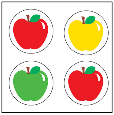 Incentive Stickers - Apple - Creative Shapes Etc.
